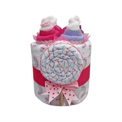 cupcakes lollipop girl nappy cake