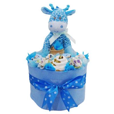 giraffe boy nappy cake