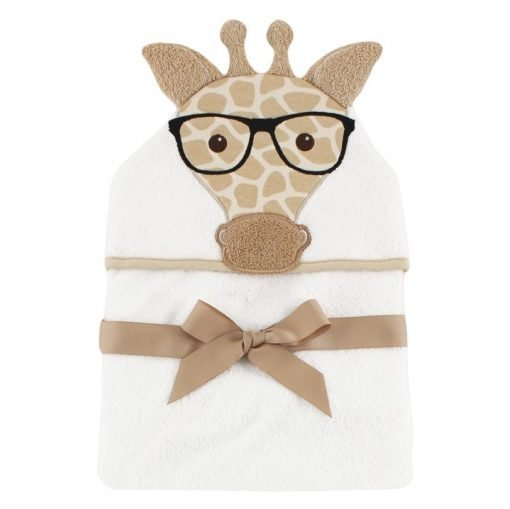 giraffe baby cotton hooded bath towel